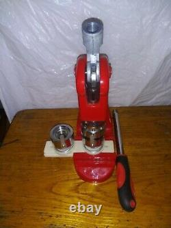 Button Maker Badge Press 500 Pcs Circle Cutter Manual Making Machine