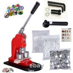 Button Maker Badge Punch Press Machine +1000pcs components buttons 25/32/44/58mm