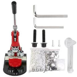 Button Maker Badge Punch Press Machine 1 1.25 1000 Parts + Circle Cutter