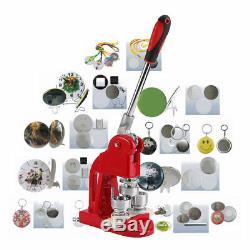 Button Maker Badge Punch Press Machine 1 1.25 2.28 1000 Parts + Circle Cutter