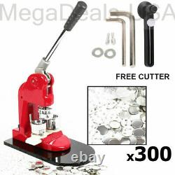 Button Maker Badge Punch Press Machine 1 1.25 2.28 Parts/Circle Cutter (C5)