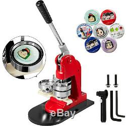 Button Maker Badge Punch Press Machine 1.73 44mm 1000 Parts +Circle Cutter