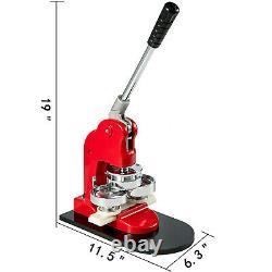 Button Maker Badge Punch Press Machine 1.73 44mm 1000 Parts +Circle Cutter