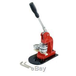 Button Maker Badge Punch Press Machine 2.28 58mm 100 Button Parts+Circle Cutter