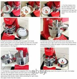 Button Maker Machine 1.25 inch 32mm Button Badge Maker Kit DIY Badge Punch 200pc