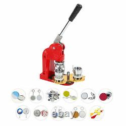 Button Maker Machine DIY Round Pin 32mm Badge Kit With 1000pcs Button Parts Supply