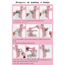 Button Maker Machine Installation-Free Badge Punch Press 58m Mold Supplies