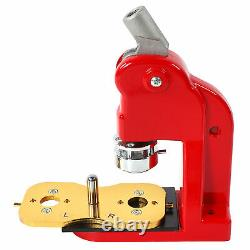 Button Maker Machine Round Pin 32mm Badge Press Kit with1000 Button Parts Supplies