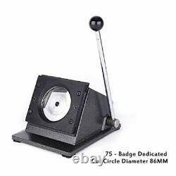 Card Machine Manual Round Punch Die Cutter Graphic Badge Button Maker 75mm