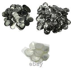 DAWEI 500Pcs 1 25mm Blank Badge & Button Parts for Badge Maker Machine