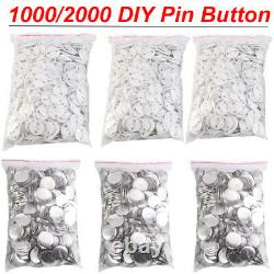 DIY Badge Button Maker Supplies/Parts Metal Pin Back 32/58mm Round 1000/2000 Qty