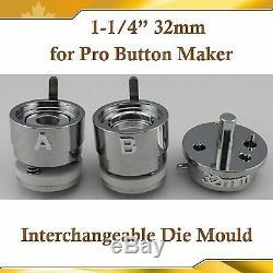DIY PRO 32mm 1-1/4 Interchangeable Die Mould for Pro N3 N4 Badge Button Maker