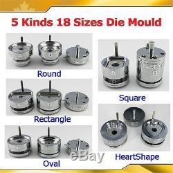 DIY PRO Interchangeable Die Moulds for Pro Button Maker Badge Machine 18 Sizes