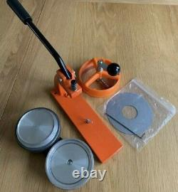 EnterpriseMicroBadge Button Maker Machine 77mm 3 inch withcomponents(READ)