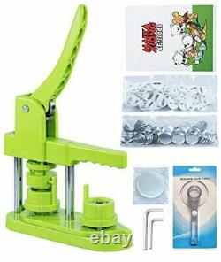 Free Button Maker Machine DIY Pin Badge Punch Press with Free 500pcs Button