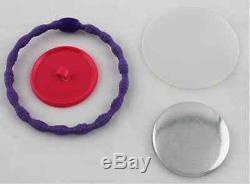 GIFT! 1 KIT Button Badge Maker +1,000 Pin Badge Metal+Cutter+Hair Pin+ Tie