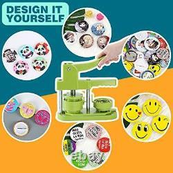 Happizza Installation-Free Button Badge Maker Machine 3rd Gen 58mm 2.25in DIY