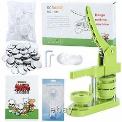 Installation-Free Button Badge Maker Machine (2¼ in) DIY Pin Button Maker 58mm