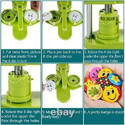 Installation-Free Button Maker Machine 25mm (1 inch) Badge Press 25mm-1000pc