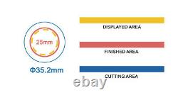 KIT 25mm (1) Badge Button Maker-B400+Round Mould+500 Pin Parts+Circle Cutter