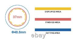 KIT 37mm (1.5) Badge Button Maker-1+Round Mould+200 Pin Parts+Circle Cutter