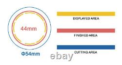 KIT 44mm (1.75) Badge Button Maker-1+Round Mould+100 Pin Parts+Circle Cutter