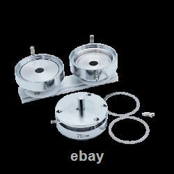 KIT 75mm (3) Badge Button Maker-1+Round Mould+100 Pin Parts+Circle Cutter