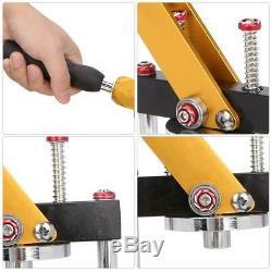 Manual Button Badge Maker Press Machine Cutter Steel Rotate Tie Button Pin Maker