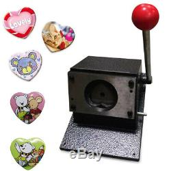 Manual Heart Shape 52x57mm Graphic Punch Die Cutter Badge/Button Maker US SHIP