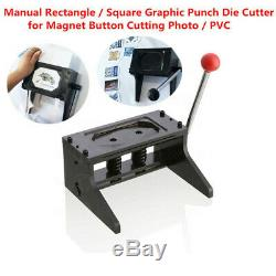 Manual Punch Die Cutter Graphic Die Cutter Badge / Button Maker Good Quality