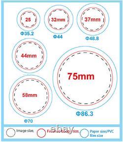 Mophorn Button Maker 32mm 1.25Inch Button Maker Machine Badge Punch Press Pin Bu