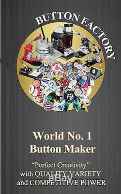N3 1 25mm Badge Button Maker+ Circle Cutter+ 100 Metal Pin Back+Mould KIT