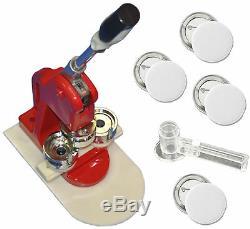 New 1-1/4 32mm DIY Button Badge Maker Press Machine+Cutter+100 Button Supplies