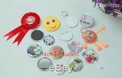 Pneumatic Badge Maker Automatic Button Round Badge Machine with 44mm Mold 220V