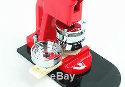 Pro Badge Maker Machine Interchangeable Button+Circle Cutter+1000 Set Pin Back