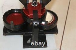 QLT BP-200 Badge Button Maker Machine Press Rare