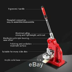 Red Button Maker Machine 44mm 1 3/4'' Badge Making Pins Punch Press 300pcs Parts