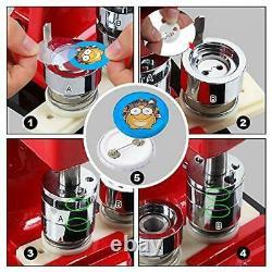 Red Button Maker Machine 50mm 2 inch Button Badge Maker Pins Punch Press Mach