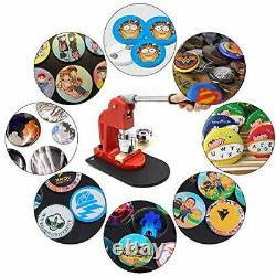 Red Button Maker Machine 58mm 2.28 inch Button Badge Maker Pins Punch Press M