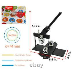 Rotary Button Maker Machine DIY Pin Button Maker Badge Punch Press Die Molds