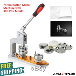Rotated Button Maker Machine Badge Punch Press Machine 3 75mm+300 DIY Buttons