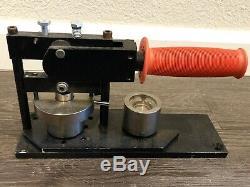 Tecre Model 100 1 Inch Round Button Maker + Button Parts/Supplies Badge Machine