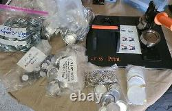 Tecre button maker 2.25 2 1/4, punch, badge pin magnets keychains bottle openers