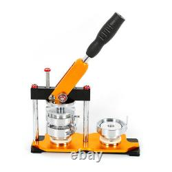 USA Button Maker 100 Parts Badge Punch Press Machine 0.98 2.28 2.95 NEW