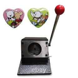 US Manual Heart Shape 52x57mm Graphic Punch Die Cutter Badge/Button Maker Sale