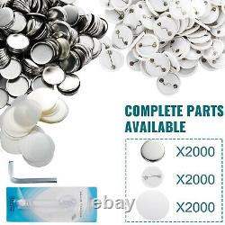 VEVOR 1 25mm Badge Button Maker 2000pcs Free Parts with Circle Cutter for Kids
