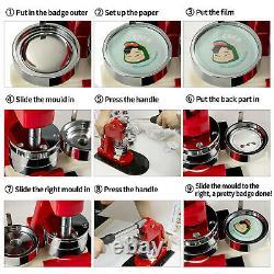 VEVOR 3/75 mm 500 Complete Sets Badge Button Pin Parts for Button Maker DIY