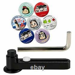 VEVOR Button Maker 58mmPunch Press Pin Maker YellowButton Badge Maker Rotatef