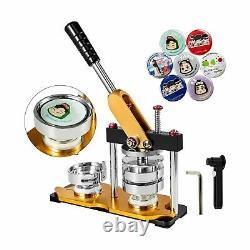VEVOR Button Maker 75mm Rotate Button Maker 3inch Badge Maker Punch Press Mac