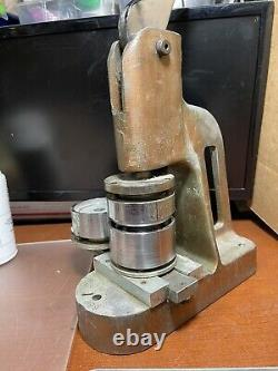 WBT & MC Badge Button Maker Machine 2 Heavy Duty Cast Iron